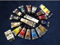 Acrylic paints, Mod Podge and Texture Paste