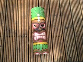 Wooden tiki mask
