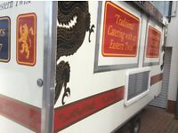 First Class Catering Trailer, Twin Axle, 14x7Ft , As New Condition