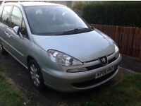 PEUGEOT 807 2.0 HDI 06 PLATE *7 SEATER* DIESEL AUTO SILVER