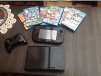 Wii U console and games bundle, as new
