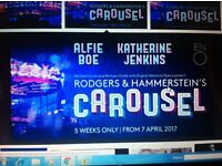 "Theatre Tickets x 4 too see "" CAROUSEL"" at Londons Coliseum Theatre !!!!! MUST SEE SHOW"