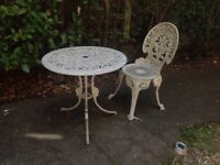 VICTORIAN STYLE TABLE AND CHAIR