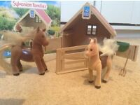 Sylvanian families stable and ponies