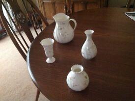 Wedgewood Campion jug and vases - set of 4