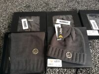 BRAND NEW MENS ARMANI HAT & SCARF GIFT SETS