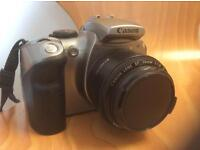 canon Eos 300d dslr camera and 50mm 1.8 prime lens