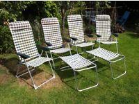 Set of camping/caravan chairs + 2 footstools