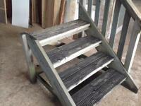 Solid wooden sturdy steps