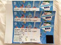 Capital FM Summertime Ball tickets x 3 £110 each