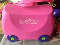 SOLD TRUNKI ride on suitcase x 2