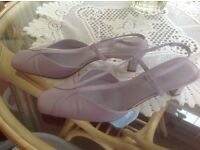 Lilac wide fitting shoes size 5