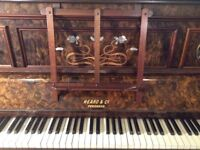 Beautiful art nouveau piano with mother- of-pearl inlay.Excellent condition. Penzance maker.