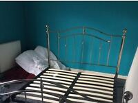 King size Chrome Bed