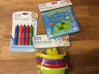 Baby bath toys bundle - new