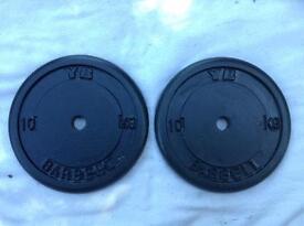 32 x 10kg York Standard Cast Iron Weights