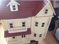Dolls House - 6 rooms - detached residence - includes fitted kitchen