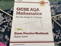 CGP gcse aqa mathematics (9-1) higher exam practice and workbook.2 books