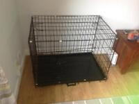 Medium black Dog crate