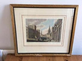 TURNERS OXFORD HIGH STREET ENGRAVING PAINTING ART ANTIQUE 1827