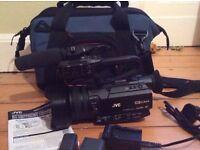 Professional camcorder JVC GY-HM170e KA-HU1 Handle, Sony Mic, Bag & extra battery *unused with box