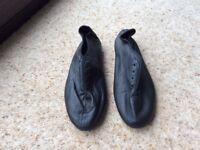 Black leather jazz shoes