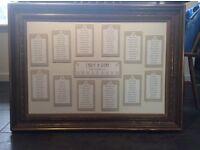 Vintage large gilt frame (wedding table plan)