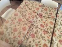 """Sundour Curtains 72"""" x 90"""" with extra material for making cushion covers including tie backs"""