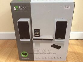 RAVON FIDELIO 2x15 watts mini iPod/auxiliary with remote new