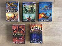Heroes of Olympus complete series.