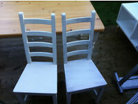 VARIOUS SETS AND PAIRS OF WOODEN DINING TABLE CHAIRS IN GREAT CONDITION