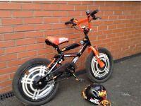 """Childs NERF branded 18"""" bike (helmet included)"""