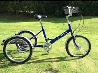 Pashley tri 1 folding tricycle