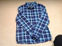 Howick boys shirt age 11-12, blue check