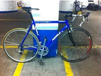 Ribble road bike with carbon forks