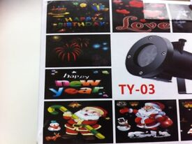LED Projector Lights Outdoor Garden showing xmas,New year,Halloween birthdays and more