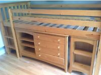 Marks and Spencer's Pine Cabin Bed with under storage