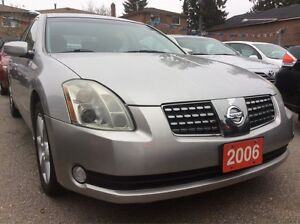 2006 Nissan Maxima Low KM 101K Leather Sunroof Bluetooth Alloys