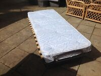 Quality fold up single bed and mattress-free delivery