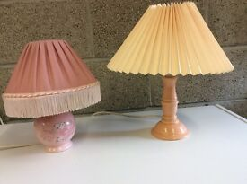 Two Small Table Lamps