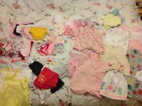 Baby girl clothes bundle shoes rompers vests hats etc