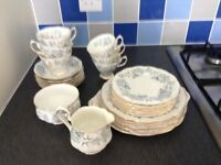 Royal Albert tea set. Silver maple. Perfect condition. Sugar bowl,milk jug. Plates,cups and saucers.