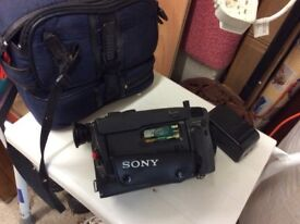 Sony camcorder with case