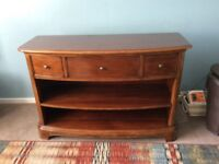 Open sideboard by Willis and Gambier and coffee table