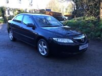 2005 MAZDA 6 TS - 5 DOOR HATCH IN BLACK - FULL M.O.T. - DRIVES SUPERB - GOOD, SOLID, RELIABLE CAR