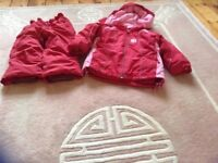 Girls ski suit Age 4/5yrs very good condition warm & pretty