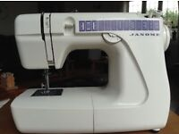 Janome sewing machine. Great condition complete with instructions