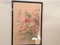Vintage Chinese silk picture
