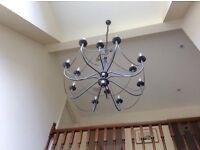 Beautiful modern wrought iron chandelier