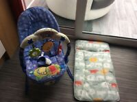 Baby chair and changing mat